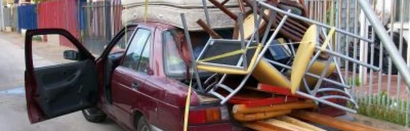 ПДД — перевозка грузов на легковом автомобиле